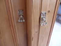 Rare Victorian 3 Door Antique Pine Waxed 5 Piece Triple Wardrobe (7 of 13)