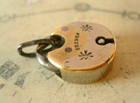 Antique Pocket Watch Chain Fob 1830s Georgian Silver Chrome Chunky Padlock Fob (2 of 6)