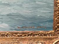 'Castle Point, Cowes' Oil Painting by W.H.Jarvis RSMA Signed 1953 (3 of 5)