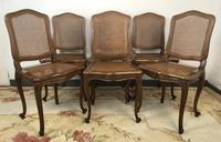 Vintage French Set of 6 Bergère Cane Dining Chairs Louis Style (2 of 8)