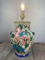 Victorian English Floral Vase Table Lamp, Rewired & Pat Tested (11 of 15)