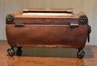 Fine Regency Leather Work Box (4 of 14)
