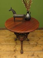 Antique Victorian Cast Iron Britannia Pub Table, Bistro table with old paint (3 of 13)