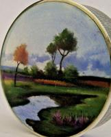 Rare Austrian Hand Painted Solid Sterling Silver Enamel Box c.1910 (3 of 8)