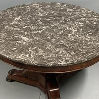 French Empire Gueridon Centre Table with Marble Top (7 of 7)