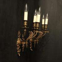 English Pair of Bronze Antique Gasoliers (10 of 10)