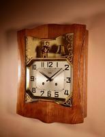 French Oak Signed Odo Automaton Striking Wall Clock (6 of 6)