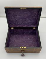 Victorian Inlaid Walnut & Tunbridge Ware Jewellery Box (6 of 14)