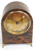 Antique Shell Mantel Clock Fine Arched Top Clock with Brass Dial 8-Day Timepiece Mantle Clock (7 of 9)