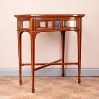 Fine Quality Edwardian Inlaid Mahogany Bijouterie Display Table (8 of 18)