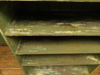 Green Rustic Painted Shelves Kitchen Storage, shabby chic Industrial Shelves (3 of 14)