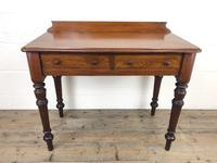 Antique Victorian Mahogany Two Drawer Side Table (3 of 15)