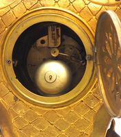 Impressive Candelabra Clock Set French Rococo Ormolu Bronze Mantel Clock. (9 of 10)