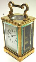 Good Antique French 8-day Repeat Carriage Clock Bevelled Case with Enamel Dial Gong Striking (5 of 15)