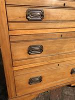 Antique Satin Walnut Three Drawer Chest of Drawers (6 of 8)