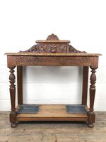Antique Victorian Carved Oak Hall Stand (9 of 14)