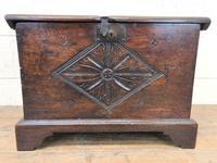 Antique Carved Oak Coffer (4 of 7)