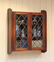 Oak Glazed Wall Cabinet (3 of 9)