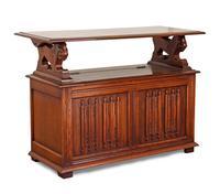 Jacobean Style Oak Monk's Bench