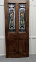 Victorian Art Nouveau Stained Glass Panel Door (9 of 9)