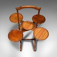 Antique Monoplane Folding Cake Stand, Mahogany, Afternoon Tea, Table, Edwardian (9 of 12)