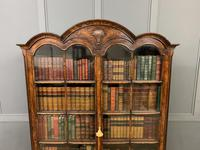 Burr Walnut Dome Topped Bookcase (5 of 18)