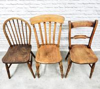 6 Assorted Windsor Kitchen Chairs (6 of 6)