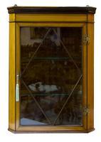 Fine Quality Edwardian Glazed Satinwood Corner Cabinet (3 of 5)