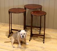 Circular Mahogany Nest of Three Tables (8 of 9)