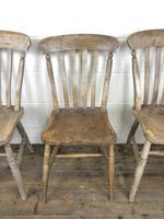 Set of Four Antique Farmhouse Kitchen Chairs (11 of 14)