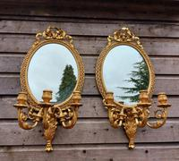 A Pair of 19th Century Gilt Girandole Mirrors