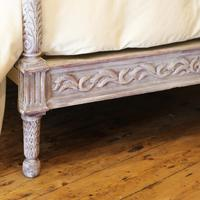 Upholstered Antique Bed with Painted Frame (7 of 8)