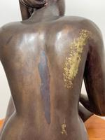 Art Deco Style Nubile African Tribal Bronze Nude Lady Statue Sculpture (9 of 28)