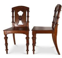 Pair of English Hall Chairs (3 of 6)