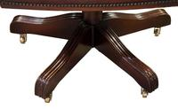 Leather Upholstered Mahogany Desk Chair (7 of 9)
