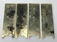 Set of 4 Antique Chinese Silver Zu Yin Hallmarked Scroll Weight Plaques Guangxu (5 of 12)