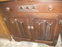 Carved Oak Linen-fold Bureau (2 of 3)