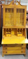 1940's Yellow Painted Bureaux Bookcase in Crackled Effect (2 of 4)