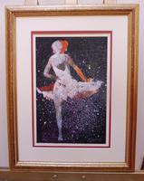 Watercolour Prima Donna Ballerina Signed (6 of 12)