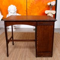 Carved Oak Desk French Writing Table Golden (13 of 15)