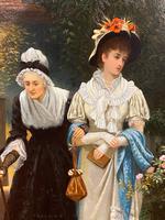 Fine Quality Ornately Framed Oil on Canvas Entitled 'Sunday Best' by Victorian Artist Arthur Langley Vernon (3 of 6)