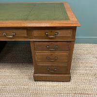 Superb Quality Large Edwardian Walnut Antique Office Desk (6 of 7)