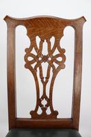 Set 4 Edwardian Arts & Crafts Oak Dining Chairs (11 of 13)