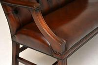 Leather & Mahogany Chippendale Style Sofa (10 of 12)