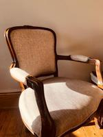 French Antique Chairs / French Salon Armchairs / Pair of Louis XV Chairs / Fauteuils (7 of 10)
