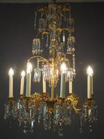 Edwardian Gilded and Glass Chandelier (13 of 13)