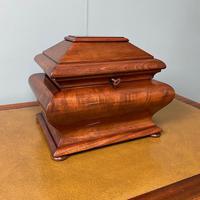 Unusual Victorian Mahogany Antique Tea Caddy (6 of 7)