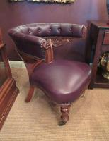 William IV Period Leather Library Armchair (4 of 5)