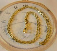Edwardian Ladies Pocket Watch Guard Chain Antique 10 Gold Filled (6 of 10)