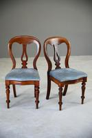 Pair of Victorian Mahogany Dining Chairs (3 of 9)